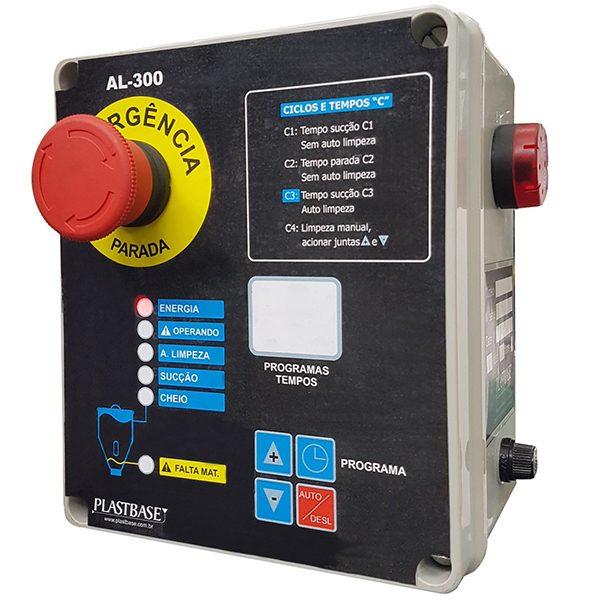 Imagem mostra o Painel universal de alimentador automático, com sua colorida e amigável interface