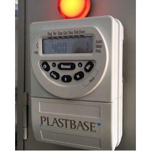 Imagem mostra o Timer despertador instalado em um secador