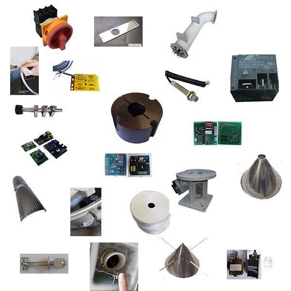 A imagem mostra dezenas de peças de reposição Plastbase